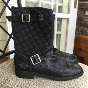 Calvin Klein BILLY unisex leather quilted boots